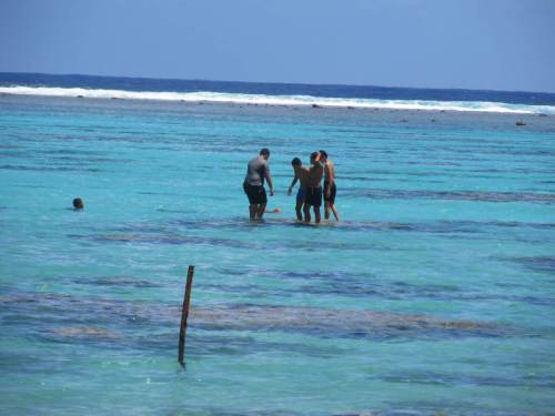 boys in the ocean